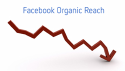 facebook reach declining new algorithm change