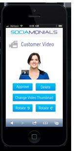 mobile video testimonial