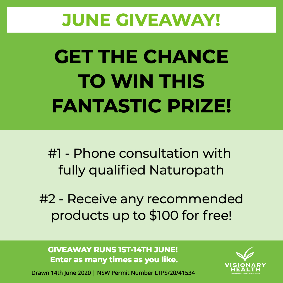 June Giveaway Prize - Visionary Health Compounding Chemist